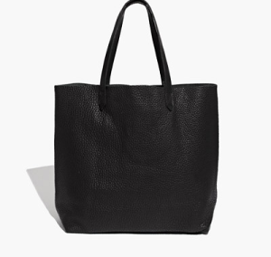 Madewell Black Leather Tote